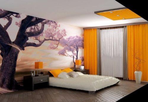 Cortinas amarillas para dormitorio